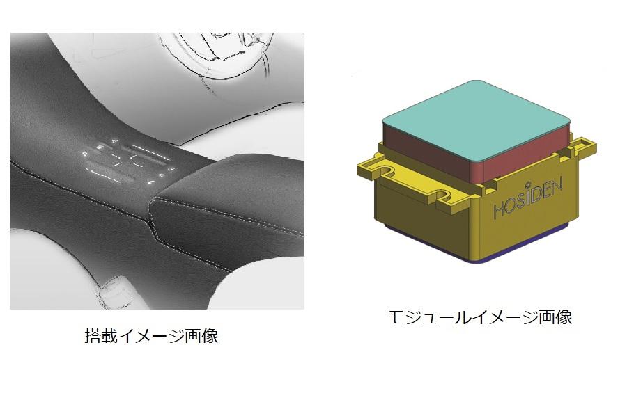 車載革調内装向けタッチセンサモジュール