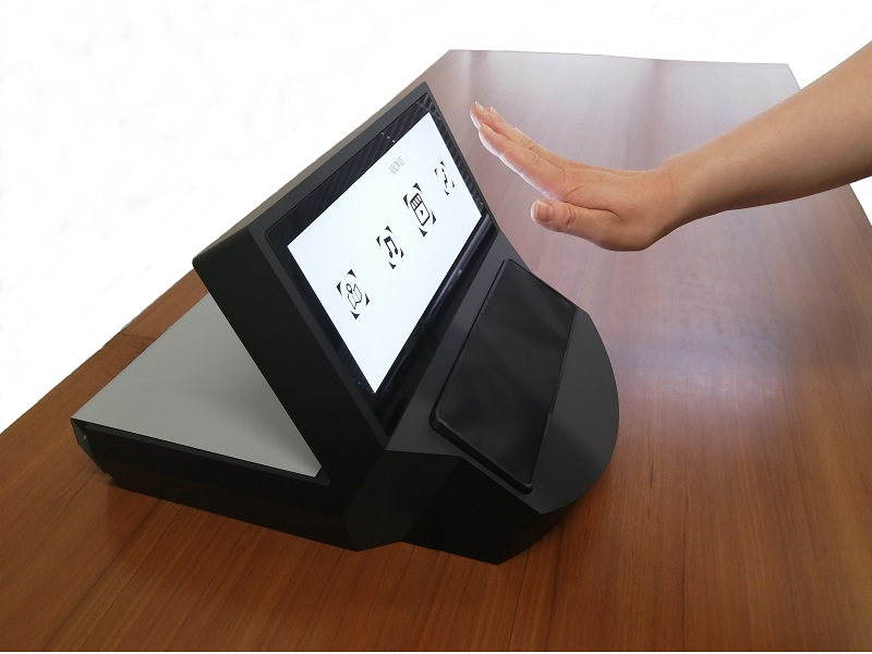 """Developed """"Air Real Reaction Touch panel (ARR touch panel)"""""""