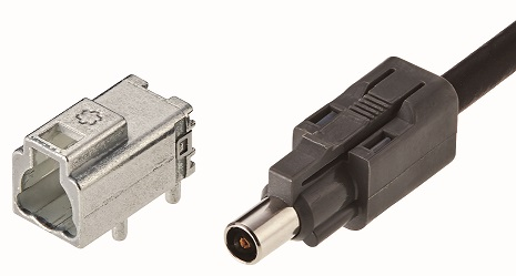 Automotive Ultracompact Coaxial Connector with Wide-band,  High EMC Performance